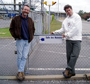 David and Mike at St. Lambert Locks